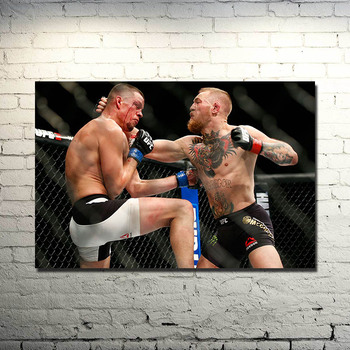 POPIGIST-UFC Conor McGregor VS Nate Diaz Fighting MMA Silk Or CANVAS Poster 13x20 24x36inch Picture For Living Room Decor -011