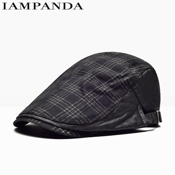 2017 Special Offer Plaid Casual Fitted 6 Women New Pattern For Peaked Cap You Male Ma'am Lattice Beret Forward Hat Leisure Time
