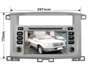 Octa/Quad Core Android Fit TOYOTA LAND CRUISER 100 1998-2007 LC 100 Lexus LX 470 Dvd-плеер Автомобиля Навигация GPS Радио dvd NAVI