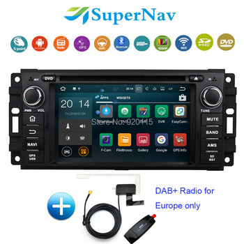 1 Дин GPS Android 7.1 Fit Chrysler Sebring Aspen 300C Cirrus 2007-2010 wifi 2 г Оперативная память Bluetooth dab + Радио DVD GPS навигации