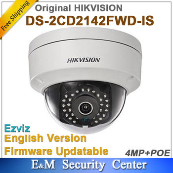 Оригинал Hikvision английская версия DS-2CD2142FWD-IS заменить DS-2CD2135F-IS 4MP IP CCTV Poe ИК купольная камера с аудио i/o