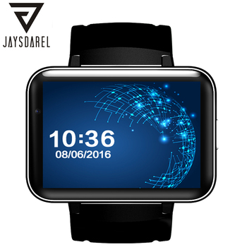 JAYSDAREL DM98 MT6572A Двухъядерный 1.2 Г Android 5.1 Smart Watch 320 * 240HD Резолюции Sim-карты 3 Г WI-FI GPS Видео вызова Шагомер